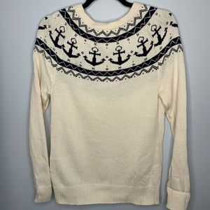Brooks Brothers Red Fleece Anchor Sweater
